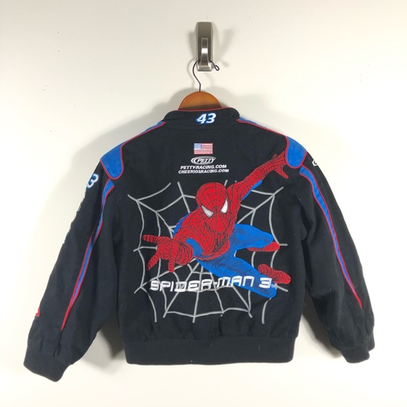 new product 9fcdf 40b64 NASCAR Racing Spiderman JH Design Jacket